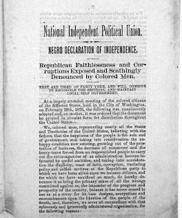 Negro Declaration of Independence, 1876