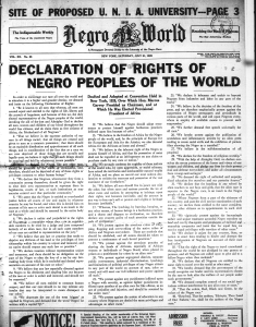 The Declaration of the Rights of the Negro Peoples of the World (1920)