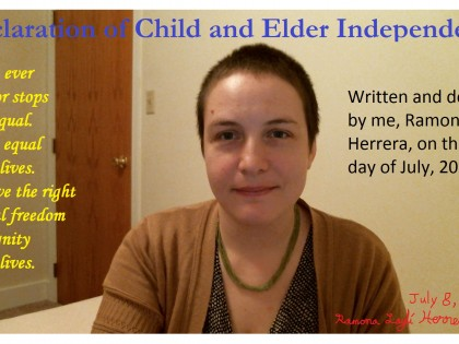 Declaration of Child and Elder Independence